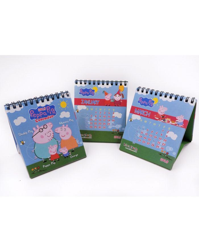 2020 Peppa Pig Theme Cute Customized Desk Calendar