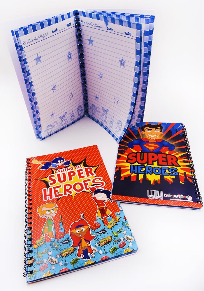super heroes theme diary