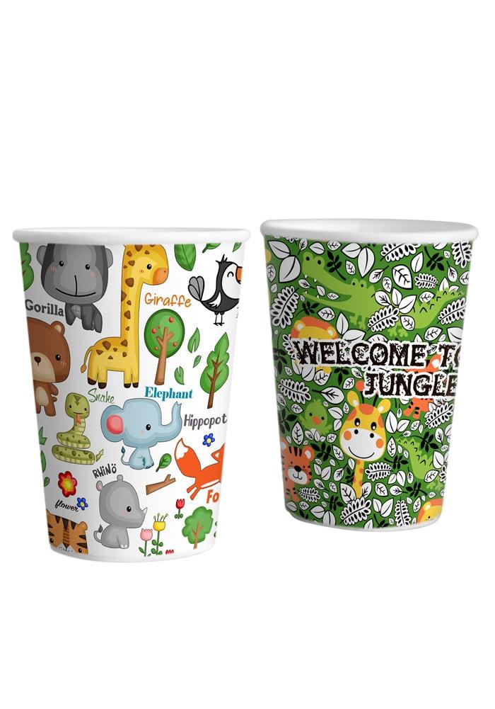 animal jungle theme paper glasses