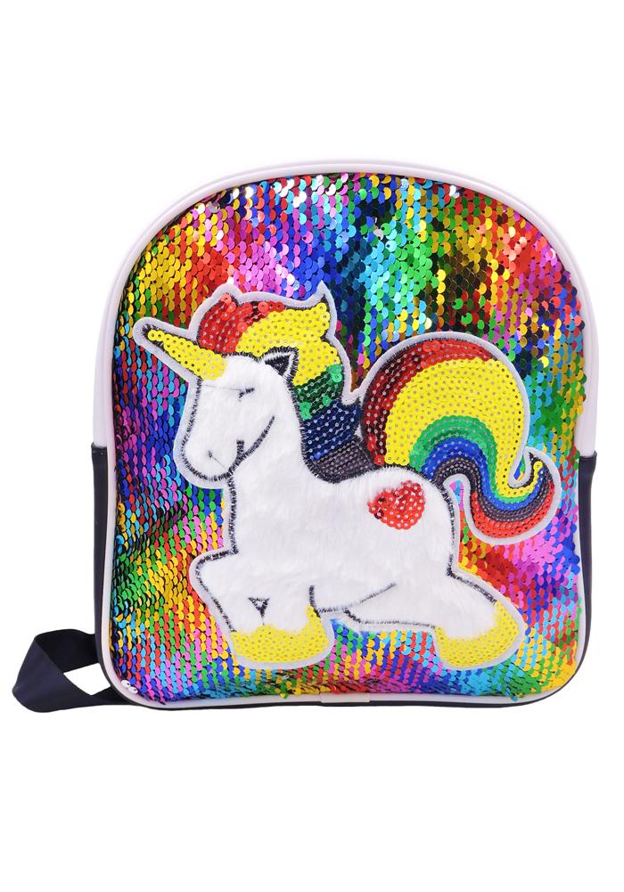 unicorn sequin backpack multicolor for kids return gifts unicorn theme
