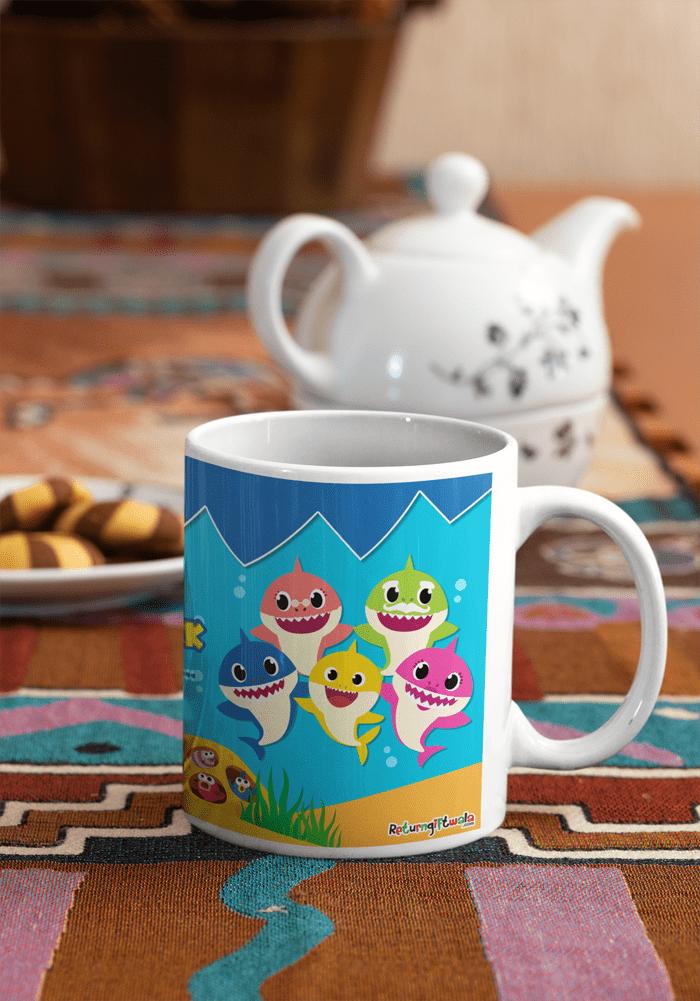 Baby shark theme party ideas coffee mug for kids