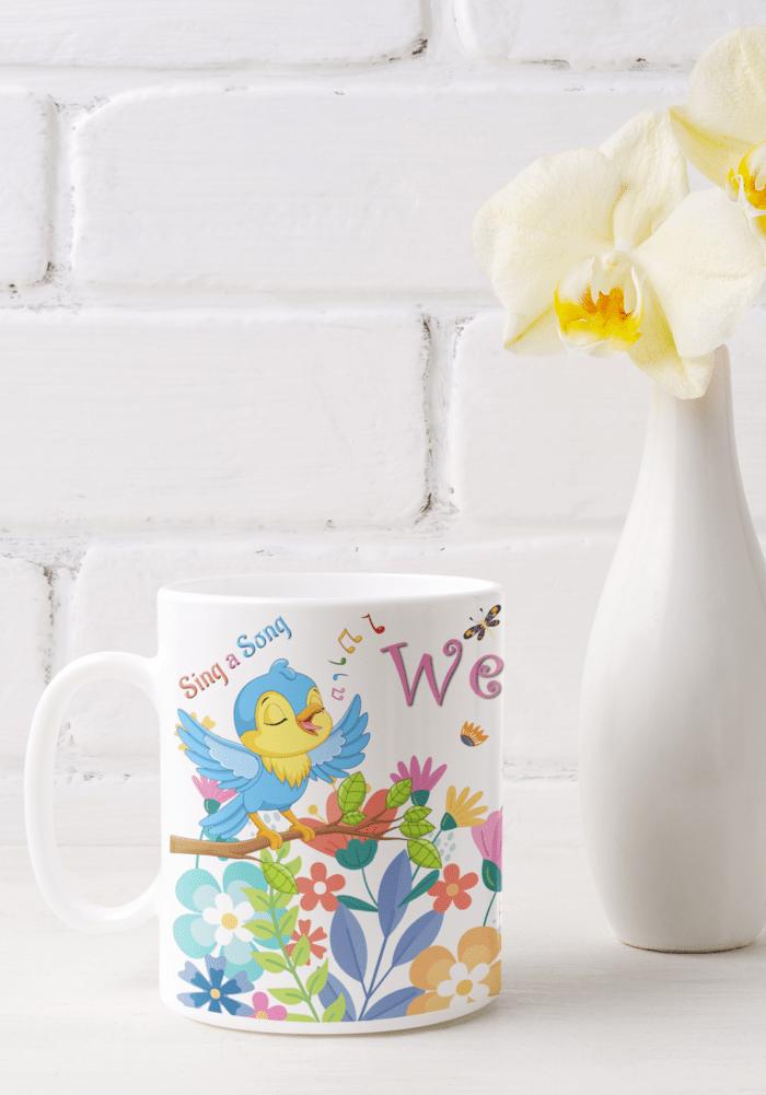 spring theme party mug
