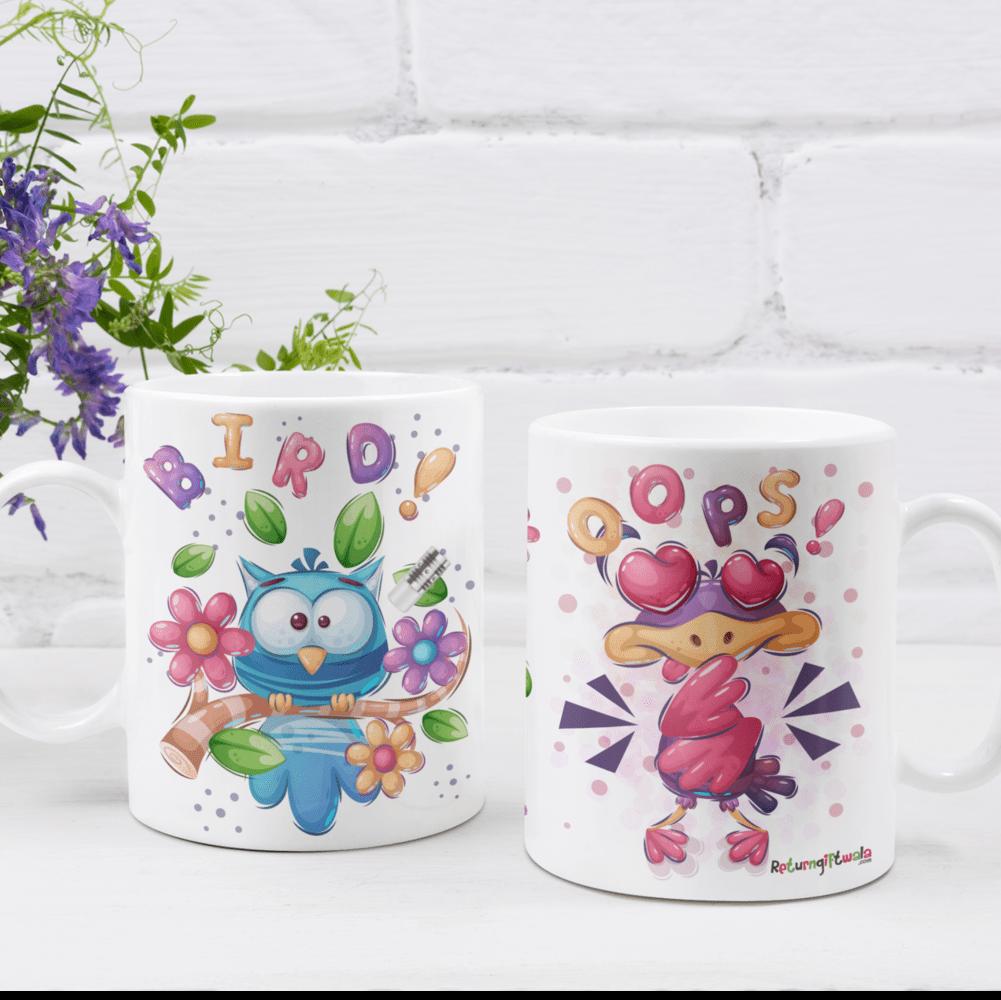 spring theme bird theme mug