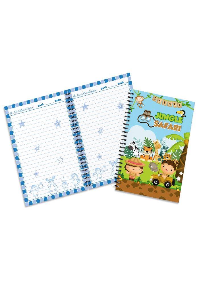 jungle safari theme diary for return gifts
