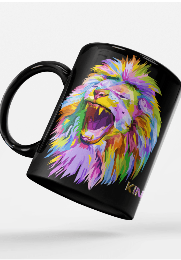 lion the king of jungle mug-min