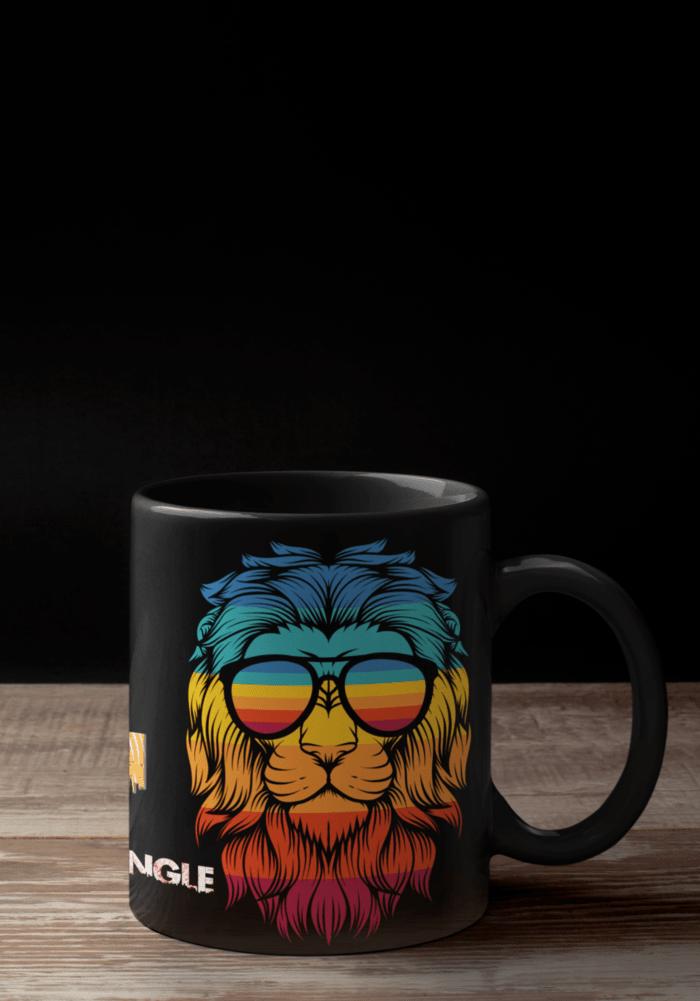 lion theme mug black-min