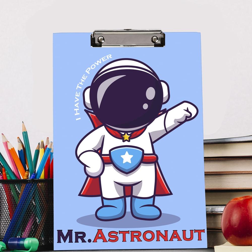 mr astronaut theme exam board for kikds