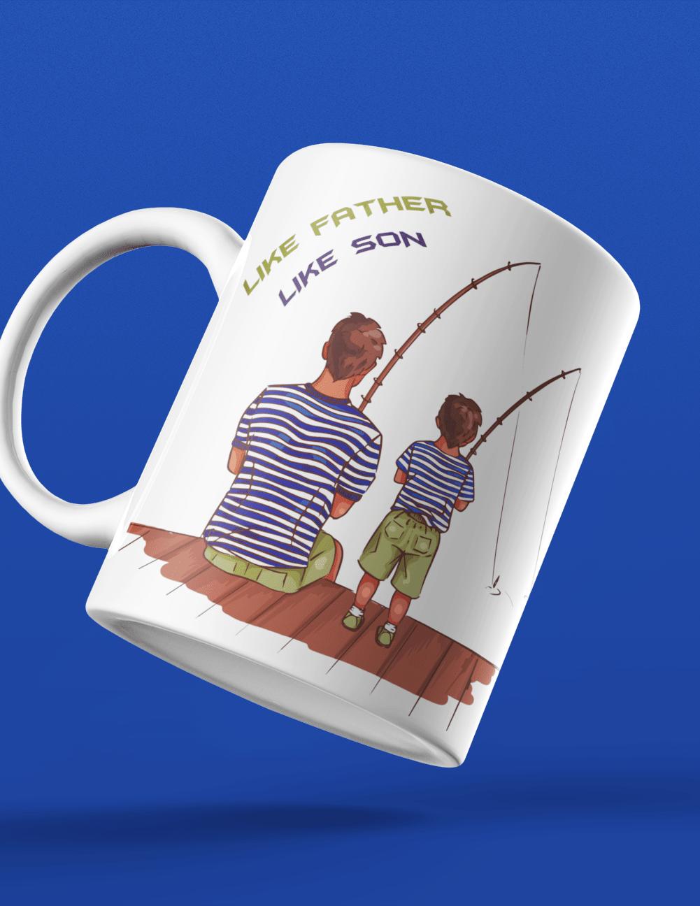 Fathers day gifting mug ceramic like father like son