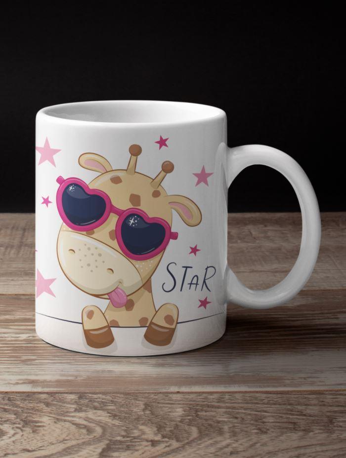 cool star giraffe coffee mug