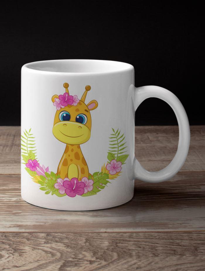 giraffe coffee mug animal theme return gifts`