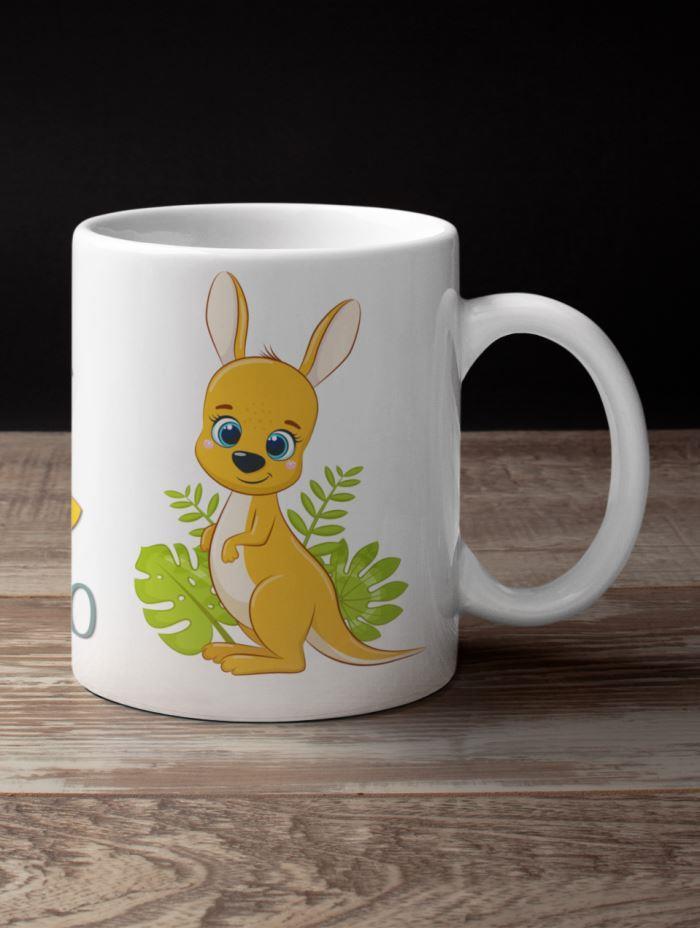 kangaroo coffee mug jungle theme