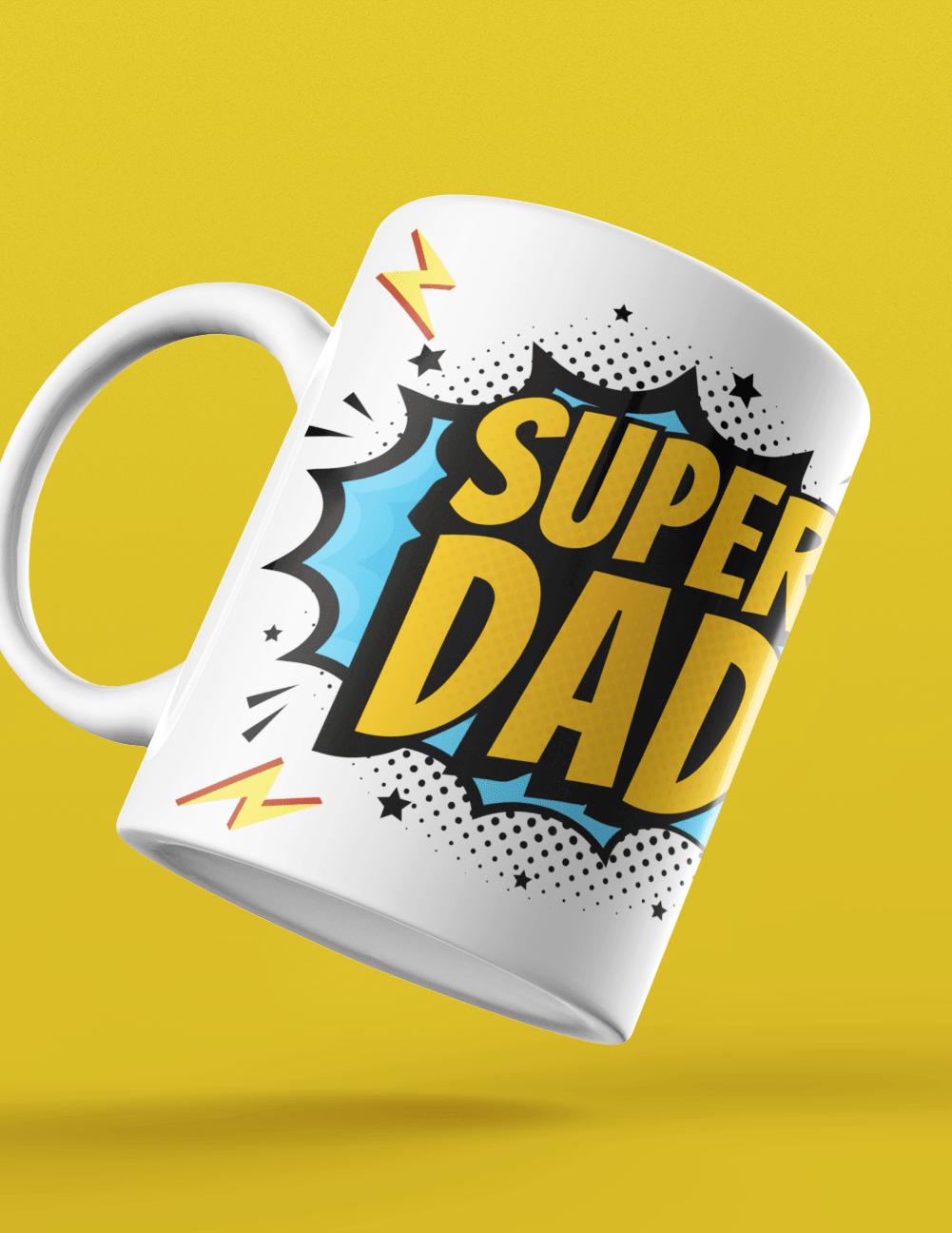 super dad cool funky mug