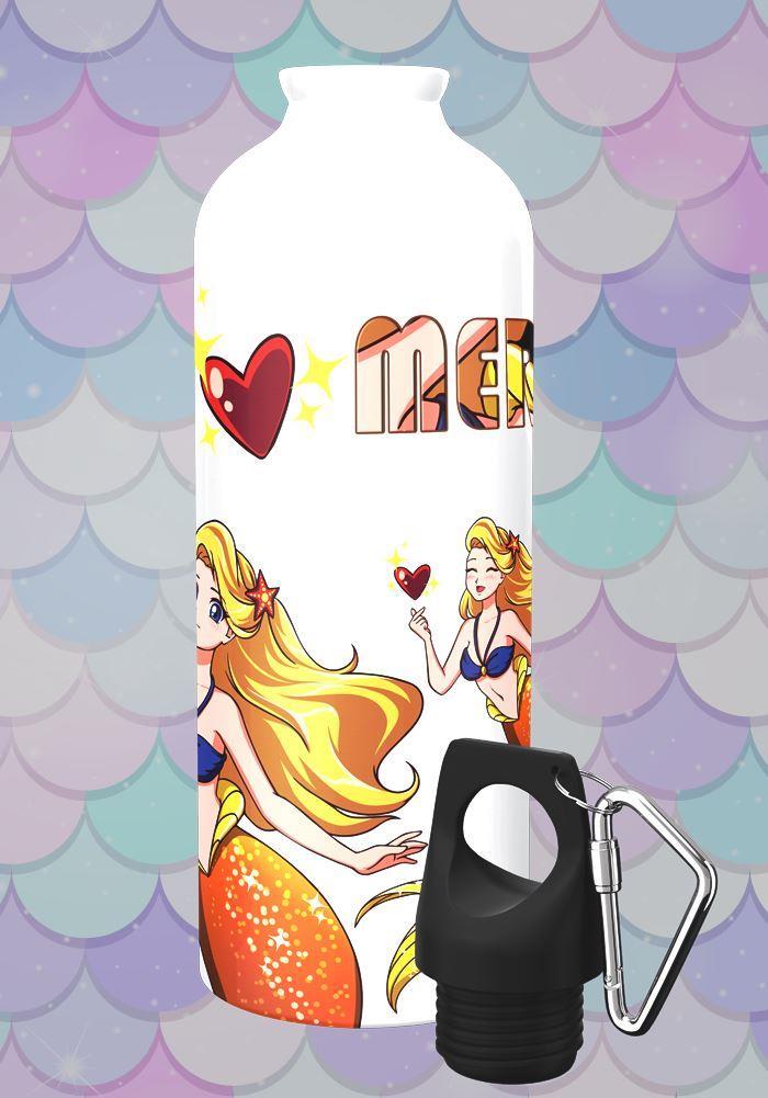 golden mermaid steel bottle