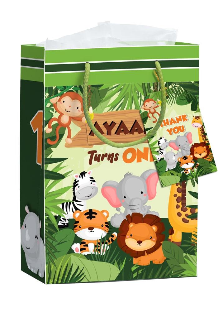 animal theme paper bags